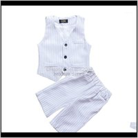 Sets Baby Baby, Kids & Maternitykids Wedding Clothing Set School Boys White Formal Graduation Suit Vest +Shorts 2Pcs Children Piano Dance Pe