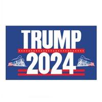 2024 Bandera de trenes de Trump 90 * 150cm Trump Flags EE. UU. Elección presidencial de los Estados Unidos Banderas de la bandera de Trump 2024 3 * 5 pies