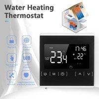 Akıllı Ev Kontrolü Elektrikli Su Isıtma Sistemi Için Dokunmatik Ekran Termostatı Termoregülatör AC 85-250V Sıcaklık Kontrol