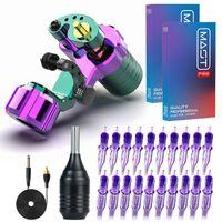 Falcon RCA Rotary Tattoo Machine Powerful Coreless Motor Makeup Supplies Set With Alloy Grip Pro Cartridge Needles Kit Guns Kits1