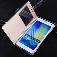 Smart Flip Cover Leather Phone Case For Samsung Galaxy A5 2015 A 5 A3 7 A7 A52015 SM A500 A500F A700 A700F A300 A300F SM-A500F
