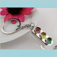 2015 Mini Traffic Light Car Key Ring Chain Classic 3D Keyfob Keychain Gift Glmgq Vvotu