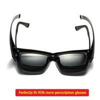 편광 된 맞춤 선글라스 오버레이 처방전 안경에 대한 커버 Myopia man 여성 자동차 운전자 대형 전송 안경