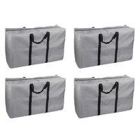 옷을위한 4pcs 스토리지 가방 여분의 대형 침실 옷장 홈 담요 핸들이있는 핸들이있는 객실 주최자 가방