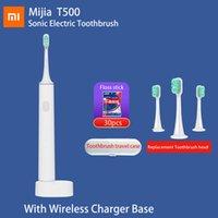 Spazzolino da denti originale Xiaomi T500 Sonic Spazzolino elettrico MI Lunga durata della batteria IPX7 Mijia Spazzola dentata ad alta frequenza Vibrazione magnetica