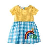 Baby Girls Ropa Bordado Princesa Vestidos Diseñador Niña Vestido Manga corta Trajes para niños Ropa para niños Summer 11 Diseños 437 K2