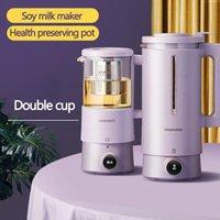 Juicers 600ml Soybean Milk Machine Soymilk Maker Health Preserving Pot Electric Juicer Blender Cytoderm Breaking Double Cup 220V