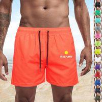 Men's Shorts Pocket Quick Dry Swimming For Men Swimwear Man Swimsuit Swim Trunks Summer Bathing Beach Wear Surf Boxer Brie