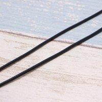 Corda della collana della catena del catena del cavo di cuoio della seta nera di alta qualità con la chiusura del claw di aragosta Colpo 40JF
