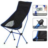 Chaise pliante en plein air portable Pêche Camping BBQ Chaises Dossier Dossier Siège Jardin Accessoires de meubles de maison