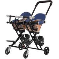 Strollers# Twin Baby Stroller Multifunction Walking Lightweight Folding Child 6months -6 Years