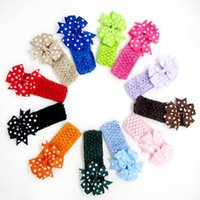 Hair Accessories Cute Baby Girl Headbands Knitted Born Bows Hearband Turban Infant Head Bands Hairbands For Kids ACC209