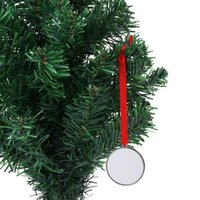 DIY 승화 빈 크리스마스 장식 펜던트 열 전송 크리 에이 티브 금속 공예 파티 장식 OWF9236