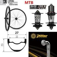 عجلات الدراجة 29er Wheelet الكربون الجبلية استخدام Koozer XM 490 محور للصليب البلد / كل 700C عوالق العجلات 32 تكلم هول