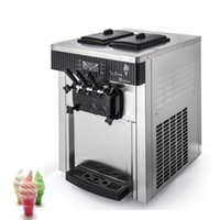 Commercial Soft Serve Ice Cream Machine Fully Automatic Sweet Cone Makers High Production Sundae Vending 28L   H