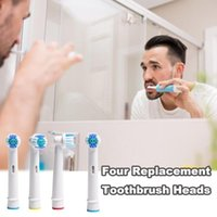 Bath Accessory Set White Replacement Toothbrush Head 4 Packs Contains Four Color Coils Brush Heads Wireless Charing