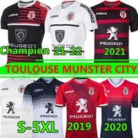 Toulouse Munster City Rugby Jerseys 2021 Novo Home Away 2020 Stade Toulousas 2019 Liga Jersey Lentulus Camiseta Lazer Treinamento Esportivo S-5XL