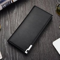 Wallet Long Bussiness Card Holder Hasp Aluminum Metal PU Leather Purse Checkbook ID For Man Wallets1