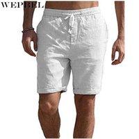 Мужские шорты WEPBEL Быстрый сухой мягкий и удобный хлопчатобумажный мужской мужской сплошной цвет вскользь наполовину брюки пляж для прибоя купания боксер