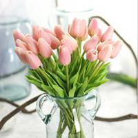 Decorative Flowers & Wreaths Beautiful 1Pcs Real Touch PU Tulip Artificial Bouquet DIY For Home Wedding Decor Wholesale