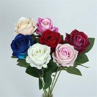 ارتفع الاصطناعي واحد ريال اللمس الورود الفانيلا محاكاة زهرة لحضور حفل زفاف الديكور المنزل الزهور