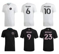 Inter Miami CF Preto 2021 Inaugural Away 23 Beckham Personalizado Qualidade Tailandesa 10 Pizarro Personalizado 11 Pellegrini 21 Carranza Wear