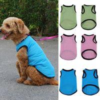 Dog Apparel Fashion Pet Cat Mesh Design Soft Sleeveless Vest Summer Regular Costume Hand-wash Pets Accessories