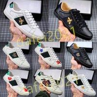 Erkek İtalya Arı Yürüyüş Rahat Ayakkabılar Kadınlar Düz Ayakkabı Kaplan Yılan Yeşil Kırmızı Çizgili İşlemeli Çiftler Moda Eğitmenler Chaussures