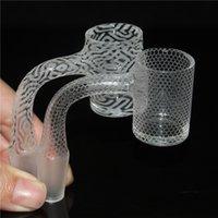 Rook Sandstrasted Volledig gelaste Seal Quartz Banger 25mm XL afgeschuinde rand Top Rokende Emmer 14mm Mannelijke Nagels voor DAB RIGHT Glass Water Bong