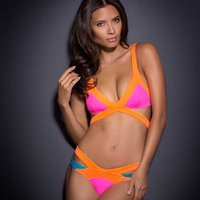 Swimwear Sexy Spell Cor Strap Bikini Multicolor Mosaico Neoprene Agente Provocateur