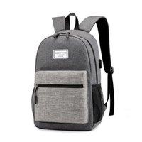 Backpack Men USB Interface Women Laptop Bag Shoulder School For Teenagers Travel Mochila