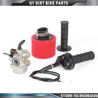 Motorcycle Fuel System PZ19 19mm Carburetor + 35mm Air Filter Throttle Grip For ATV Quad Dirt Pit Trail Motor Bike Go Kart 50cc 70cc 90cc 11