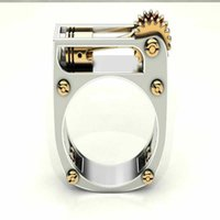 Cluster Rings Fashion Trendy Silver Color Lighter Gothic Ring Punk Women Size 6-10 Party Wedding Jewelry