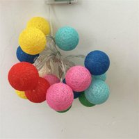 Strings 10 LED String Lights Cotton Threaded Beads Bulb Romantic Atmosphere Illumination Bedroom Festival Party Supplies