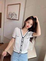 Damenstricken, V-Ausschnitt Hohl-Kurzarm-Bluse, lockere Mode-Sonnencreme-Kleidung, voller Elastizität