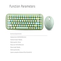 Jelly Comb Combos Desketop Laptop Notebook 2.4G Wireless Number Pad Pink Girl Keyboard and Mouse