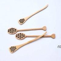 Miel de madera cucharas de café mezclando larga cuchara herramientas de abeja agitador muddler agitando palo dípper talla dwb7316
