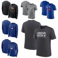 "New York""Giants""Men Women Youth 2021 Crucial Catch Performance Football T-Shirt Charcoal"