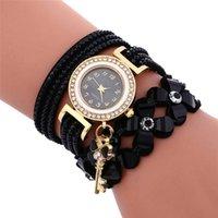 Wristwatches Fashion Montre Femme Female Clock Diamond Weave Leather Bracelet Lady Womans Wrist Watch Small Numbers Dial Quartz