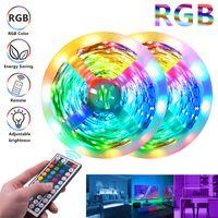 RGB-LED-Streifen 16.4FT 32.8ft 5050 Streifenleuchten 30LEDS / M mit 440-Fernbedienung