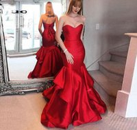 Gorgeous Red Long Prom Dresses Sexy Open Back Mermaid Evening Gowns South African Formal Party Gown Sweet 16 Dresses