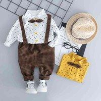 HYLKIDHUOSE Toddler Children Clothes Suits Gentleman Style Baby Boys Clothing Sets Shirt Bib Pants Autumn Kids Infant Costume 201127
