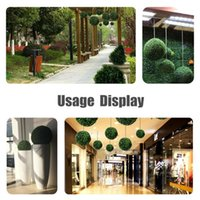 Large 48cm 42cm Artificial Plant Ball Topiary Tree Wedding Decoration Party Home Outdoor Hanging Balls Yard Ornaments Decorative Flowers & W
