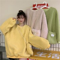 Women's Hoodies & Sweatshirts Jacket  package Women Harajuku Style Autumn Winter New Bf Loose Thick Lamb Wool Coats Fashion Woman