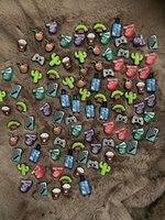 Ncartoon Carattere PVC Rubber Gomma Scarpa Scarpe Scarpe Accessori Zoccolo Jibz Fit Braccialetto Pulsanti Croc Pulsanti Decorazioni regalo J3EF #
