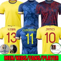 Kolumbien 2021 Duván Zapata Fussball Jersey 21 22 Davinson Sánchez James Copa America Football Hemd Falcao Mina Camiseta de Futbol MAILLOT Damen Spielerversion