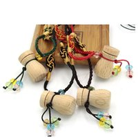 Pendant Necklaces Wholesale 10 Pcs Lot Sweater Leather Necklace With Woody Essential Oil Bottle Women Perfume Gift Jewelry