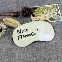 Impression personnalisée Dessin animé Flamingo Masque d'oeil de couchage avec Pack de glace Hommes Femmes Soft Portable Eyes Ombre Du masque de pression DH1060 T03