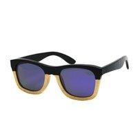 Proveedor 2021 Gafas de alta calidad 100% Marco de vidrio de madera Gafas de sol de bambú