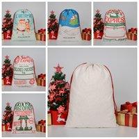 Weihnachtsgeschenksack Große Bio-Heavy Canvasbag Santa Sack Kordelzug Taschen mit Rentiers Santaclaus Sackbags für Kinder WLL992
